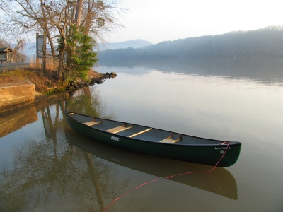 canoe at morrow mountain
